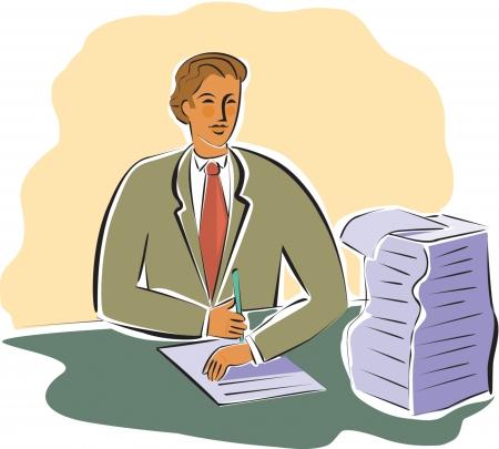signing: businessman signing documents Stock Photo