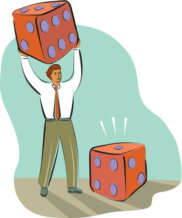 imagezoo: businessman rolling big dice