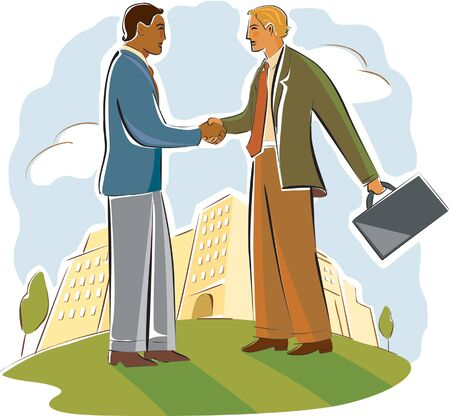 acknowledgment: two businessmen shaking hands