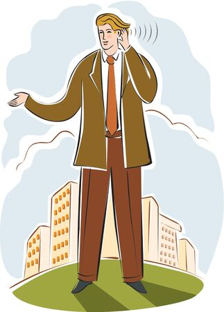 distinguishing: businessman listening