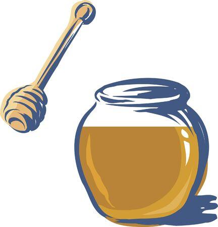 dipper: A jar of honey