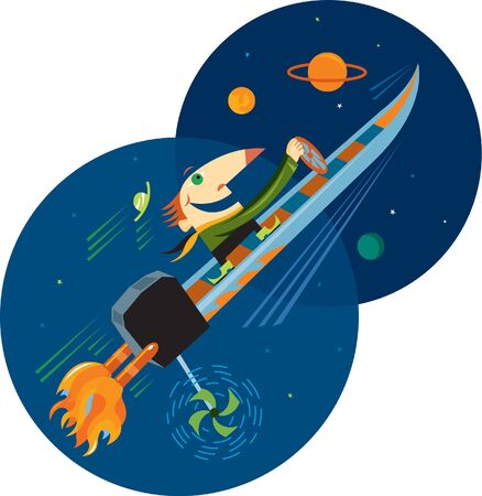one man only: A man steering a boat that is as fast as a rocket in outer space
