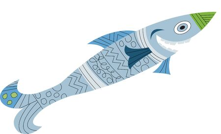 fisheries: An image of a smiling blue grey fish Stock Photo
