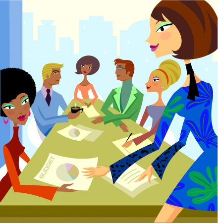 stephanie carter: A group of busniess people in a meeting room