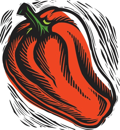stephanie carter: fresh red bell pepper
