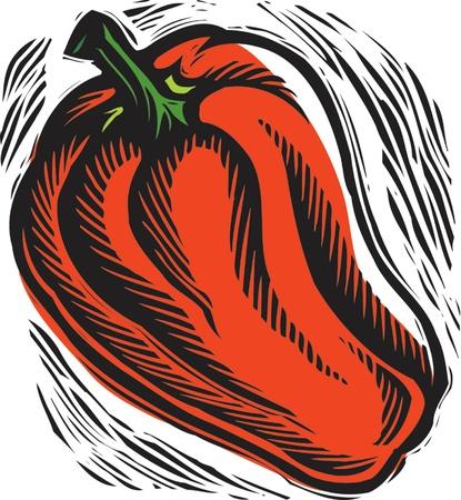 fresh red bell pepper Stock Photo - 15209303