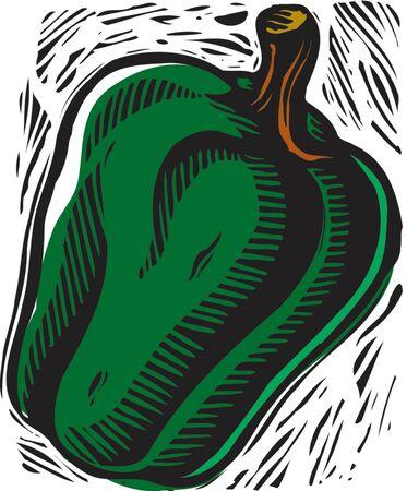 bell pepper: Green bell pepper
