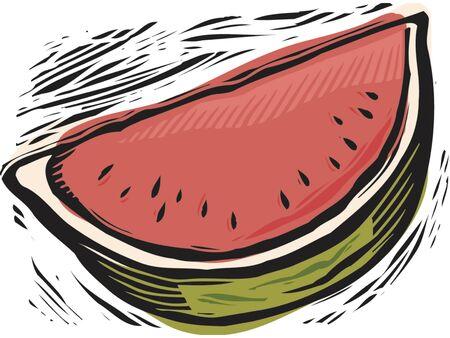 imagezoo: fresh watermelon slice Stock Photo