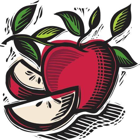 新鮮なリンゴをスライス