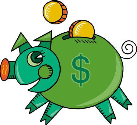 savings account: Happy piggy bank