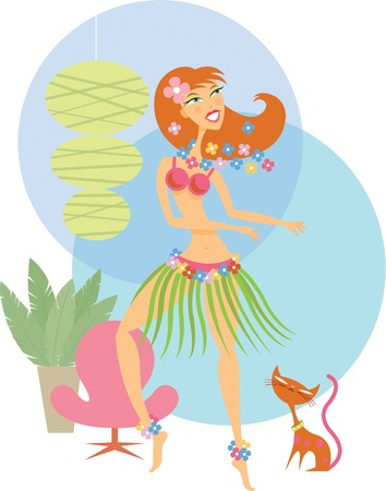 Girl hula dancing Stock Photo - 15208662
