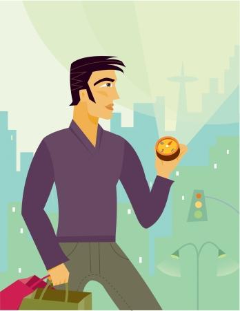 A man using a compass