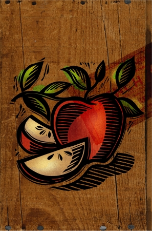 A decorative apple collage Stock Photo - 15209489