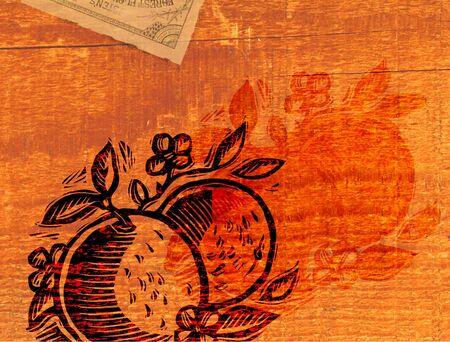 A decorative orange collage Stock Photo - 15209475