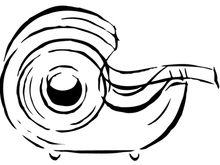 scotch: Drawing of a tape dispenser Stock Photo