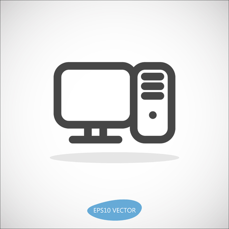 pc icon: Vector PC Desktop Computer Icon