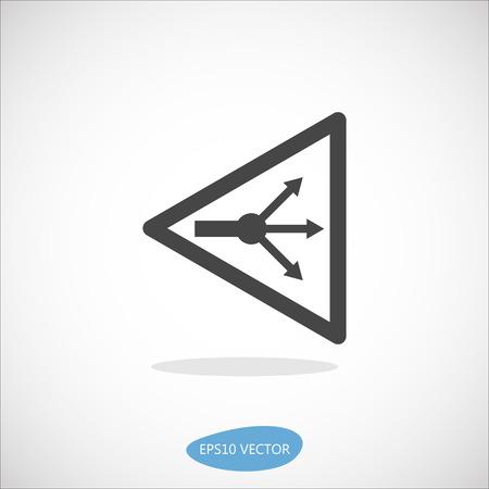 splitter: GPON Splitter Icon - Isolated Vector Illustration. Simplified line design.