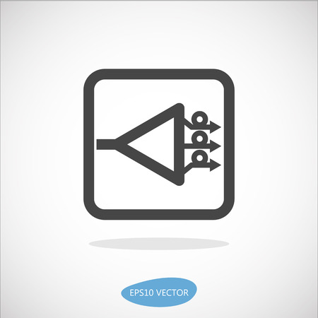 GPON Icon - Isolated Vector Illustration. Simplified line design.