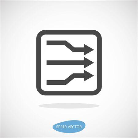 DSLAM Icon - Isolated Vector Illustration. Simplified line design. DSL, ADSL, VDSL technologies.