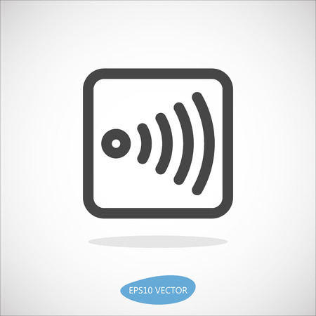 peer: Wireless Device Icon - Isolated Vector Illustration. Simplified line design. Illustration