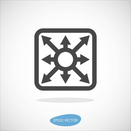 multilayer: Multilayer Switch Icon - Isolated Vector Illustration. Simplified line design. Illustration
