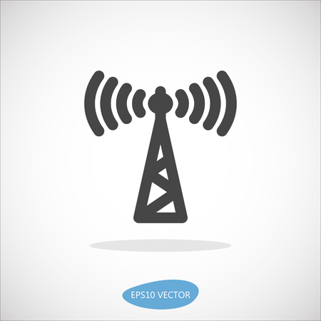 input output: Access Point Icon - Isolated Vector Illustration. Simplified line design. Illustration