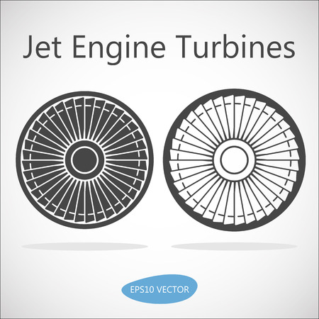 jet engine: Jet Engine Turbine Front View - Isolated Stock Illustration