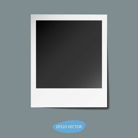 polariod frame: Retro Photo Frame With Shadow - Isolated Illustration. Illustration
