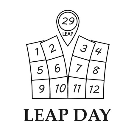 29: Leap day, february 29. Isolated vector Illustration Illustration
