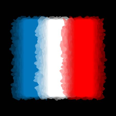 french flag: Flag of France, French flag - with abstract blurred waves