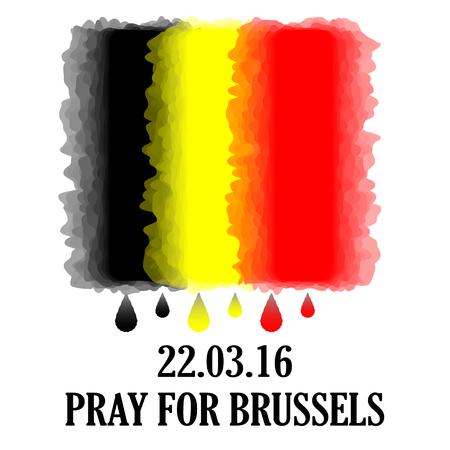 pray: Pray for Brussels. Illustration