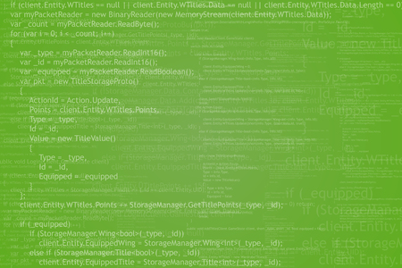 programming code: Program code background. Algorithm programming. White on green abstract background. Illustration