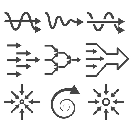 network topology: Simplify icon set. From complex to simple arrow diagrams.