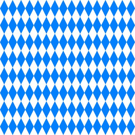 Oktoberfest abstract blue geometric pattern. October festival vector illustration, blue color. Germany Oktoberfest worlds biggest beer festival. Seamless Oktoberfest and Bavarian flag pattern. Vettoriali