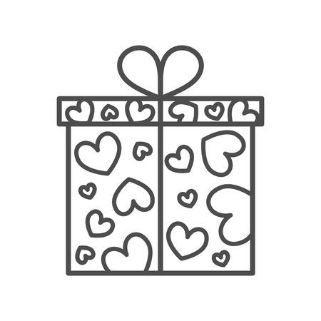 Gift box, present on Valentines day Vettoriali