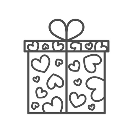 Gift box, present on Valentines day Ilustrace