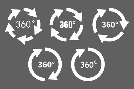 360 degree rotation icons Ilustrace