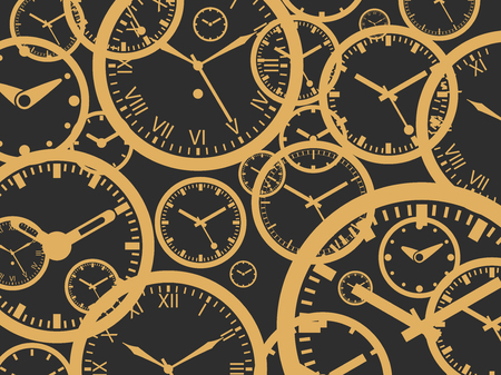 Clock Background - Isolated Vector Illustration