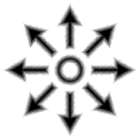 Expanding icon illustration Ilustrace