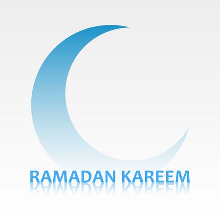 Ramadan Kareem card with crescent symbol