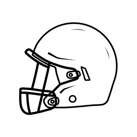 American football helmet, side view