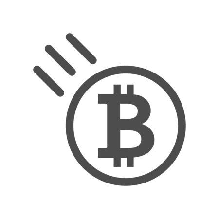 Bitcoin sign icon illustration