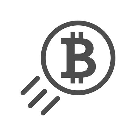 Bitcoin sign icon illustration.