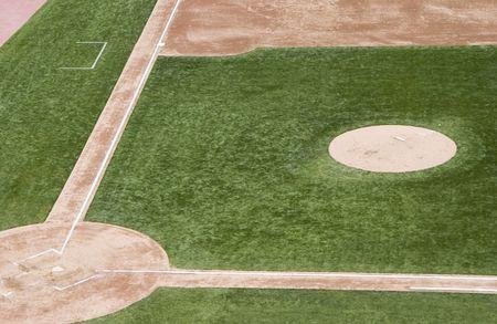 baseball field: An empty  baseball field. Stock Photo