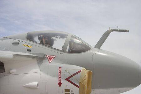 The canopy of an Navy jet. Фото со стока