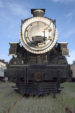 A big old steam locamotive.