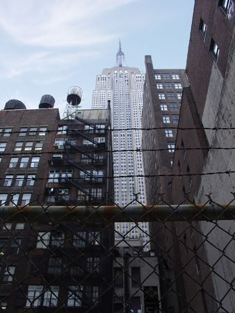 A rather foreboding street level scene. This image captures the utopinandistopian dual nature of New York City. photo