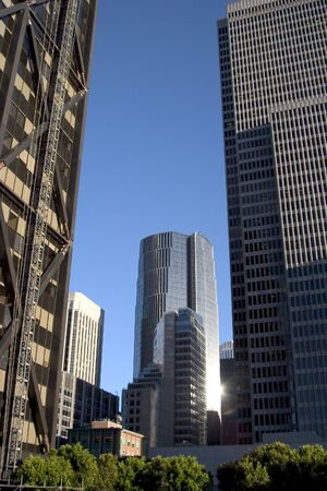 powerfull: Tall buildings all around, ripe for business.
