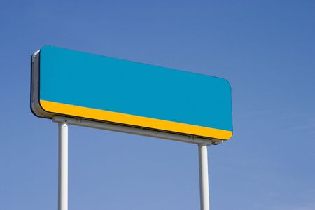 blanked: A blanked out gas station sign.