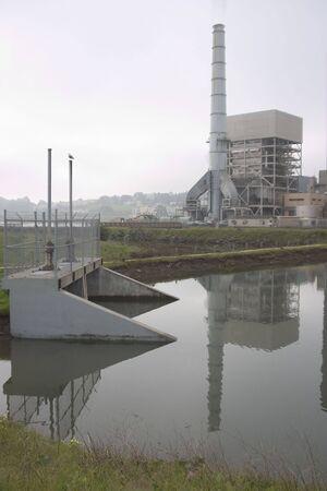 glum: A rather glum view of a power plant.